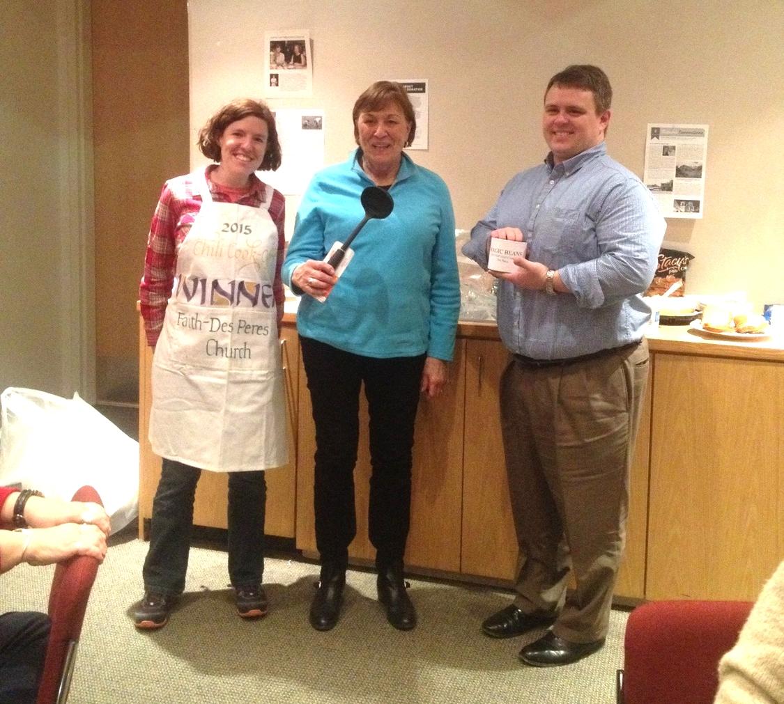 The winners! Brooke Baker, Barb Abbett, and John Willock