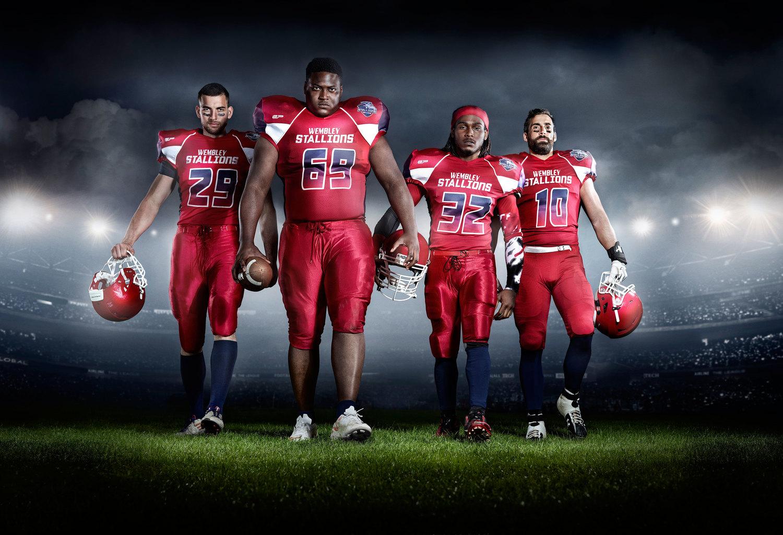 Wembley Stallions American Football Team Derviller