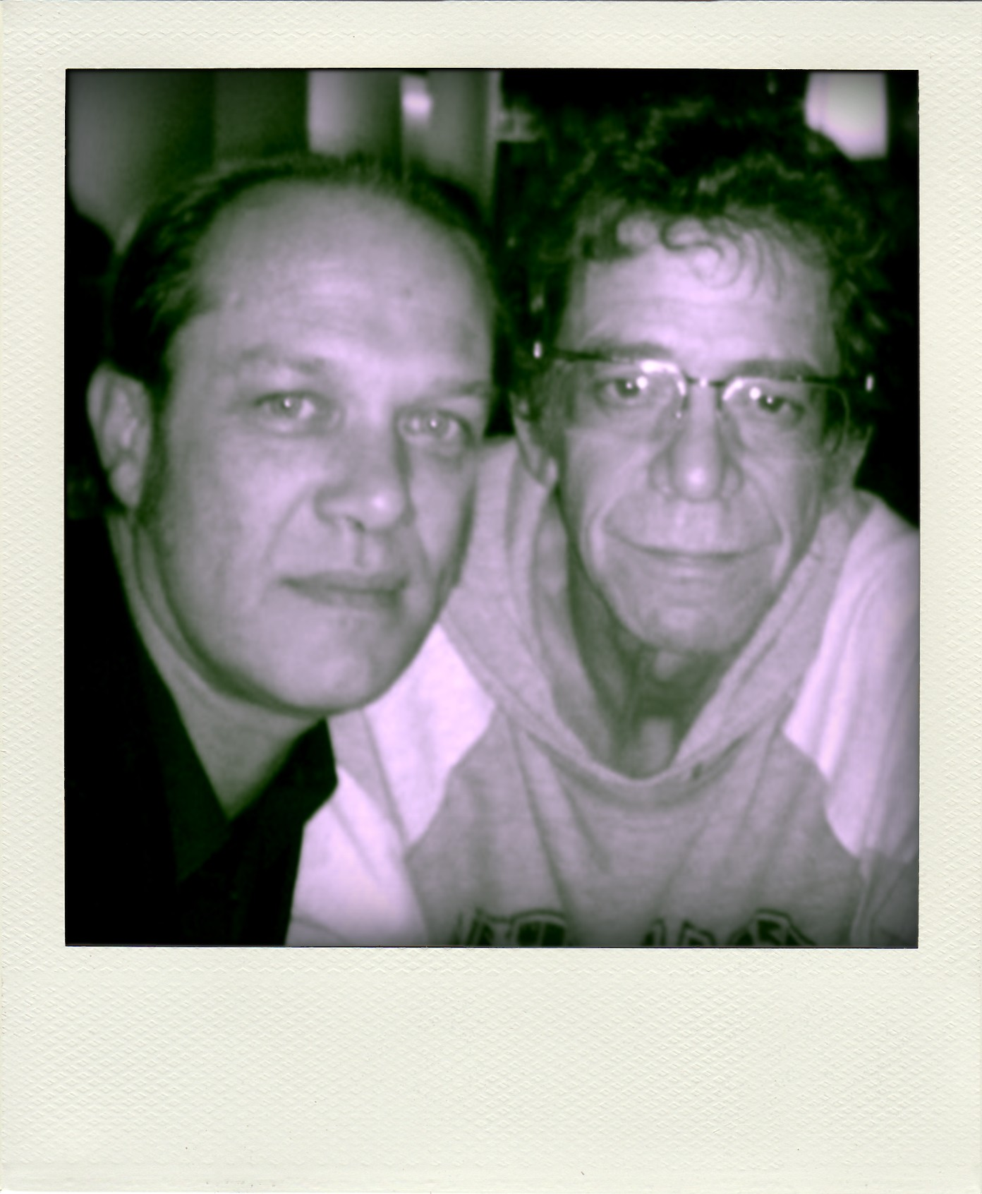 With Lou Reed, Dublin, 2005