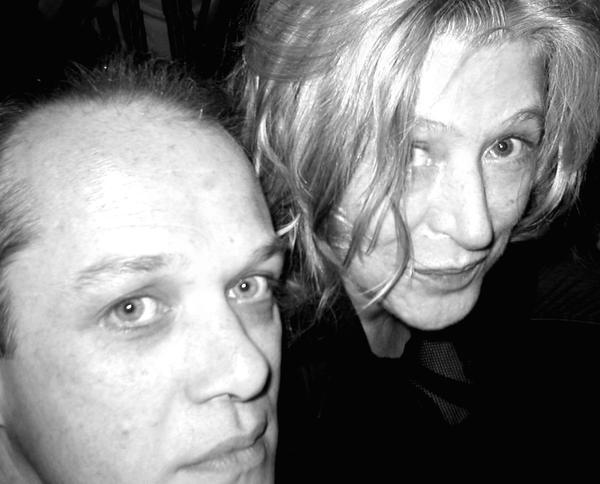 With Marianne Faithfull, San Francisco, October 2004