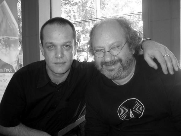 With Hal Willner, London, April 2004