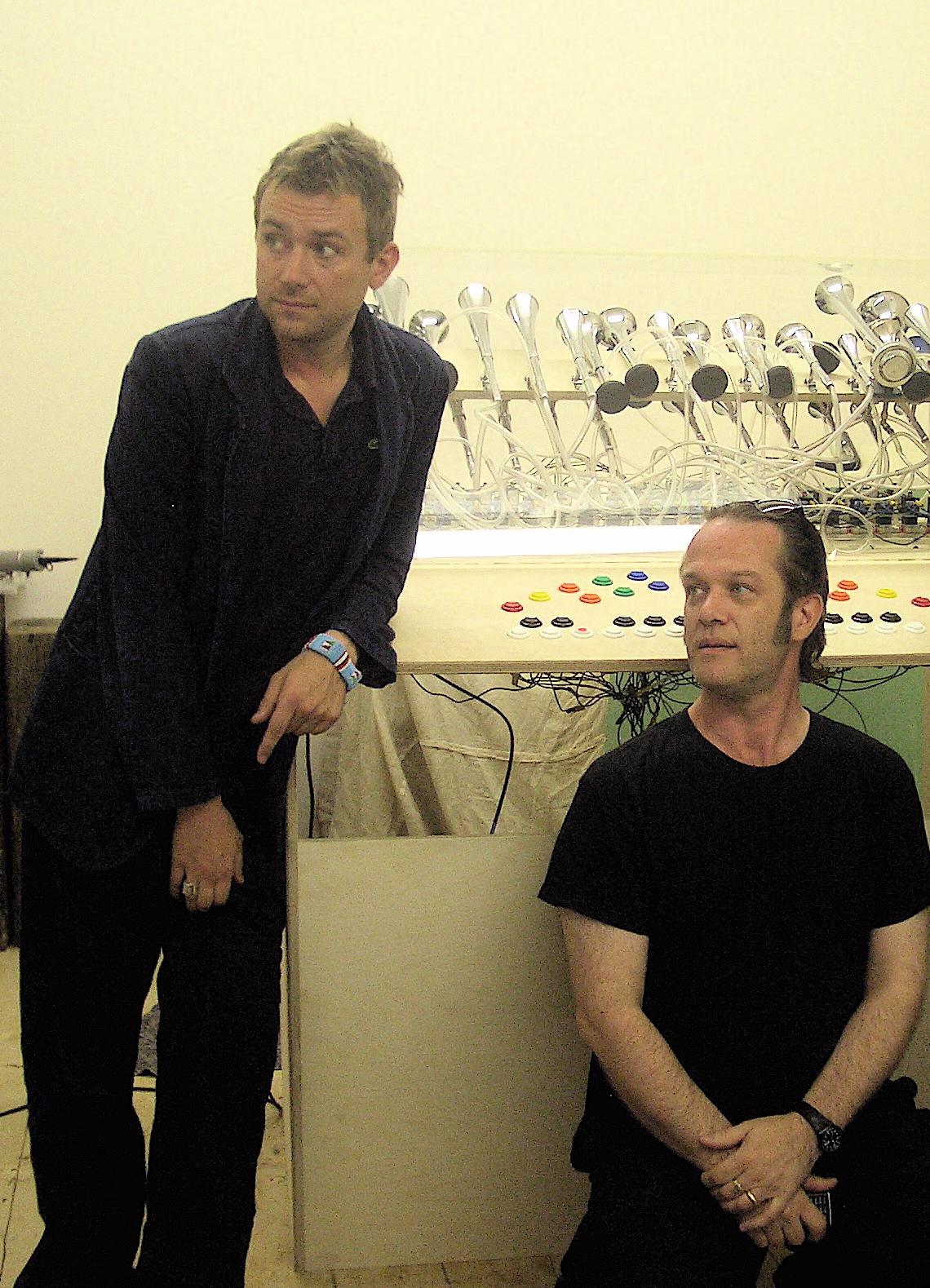 With Damon Albarn, London, March 2006