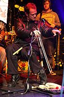 Playing saw at Afrika Express, Liverpool, Summer 2007