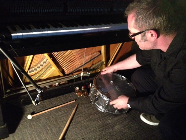Recording prepared piano for Polly Scattergood at Mute. London, Autumn 2012