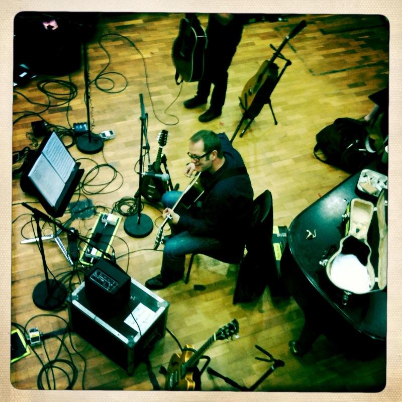 TV recording TV show in Dublin. September 2010