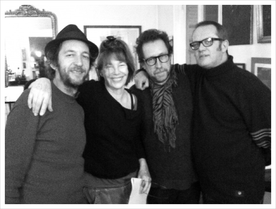 With Arthur H, Jane Birkin and Steve Nieve, Paris, Autumn 2010