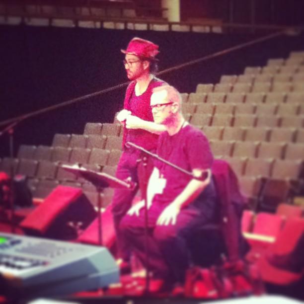 With Sean Lennon. RFH, June 2013