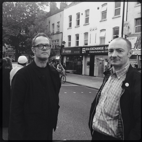 With Terry Edwards, London, September 2013