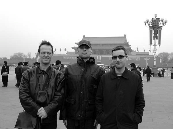 Tiananmen Square, Beijing, Spring 2008. With Damon Albarn and Mike Smith
