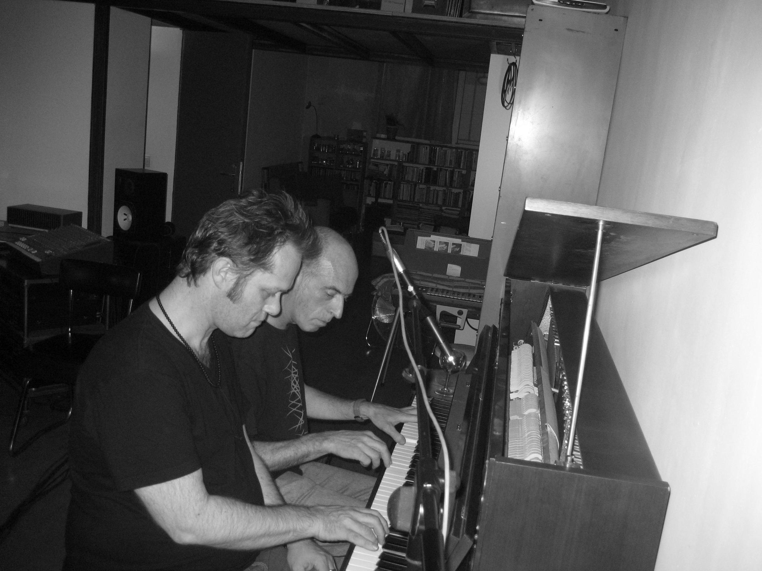 With Jean Jacques Palix. Studio 64, Paris. September 2007