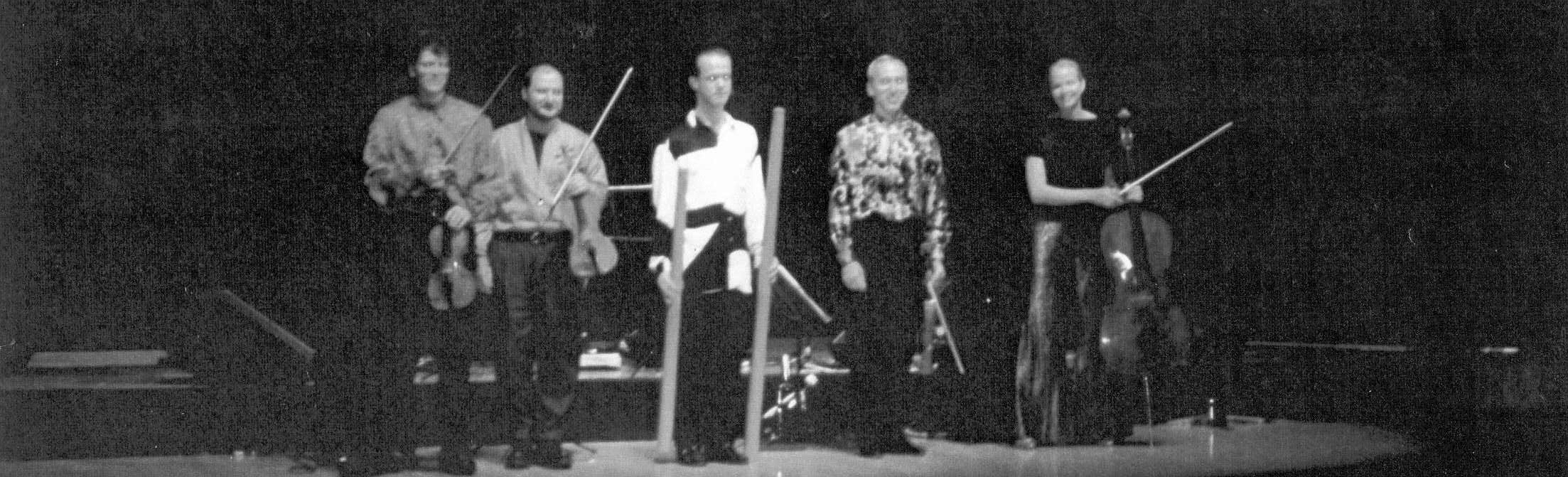With The Kronos Quartet. Barbican Hall, London, July 1994