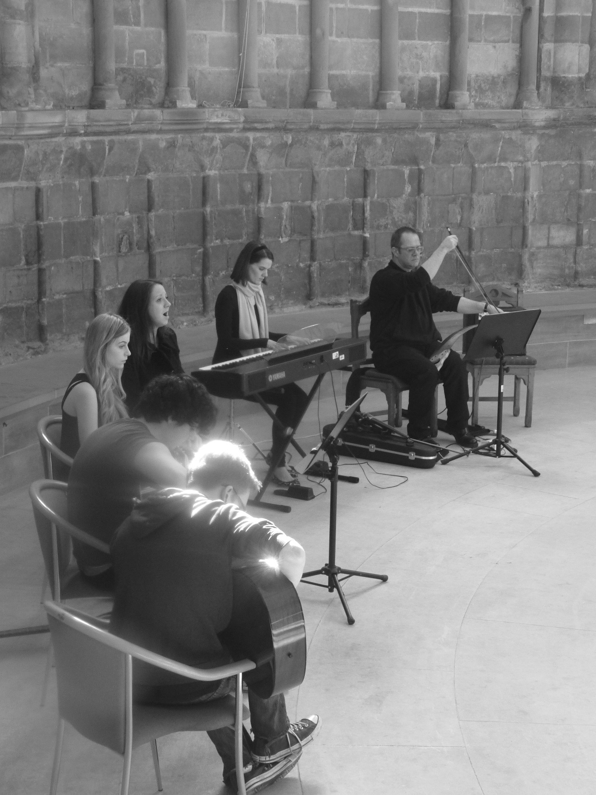 Concert of New Work in Chapter House, Worcester Cathedral, 7 March 2014