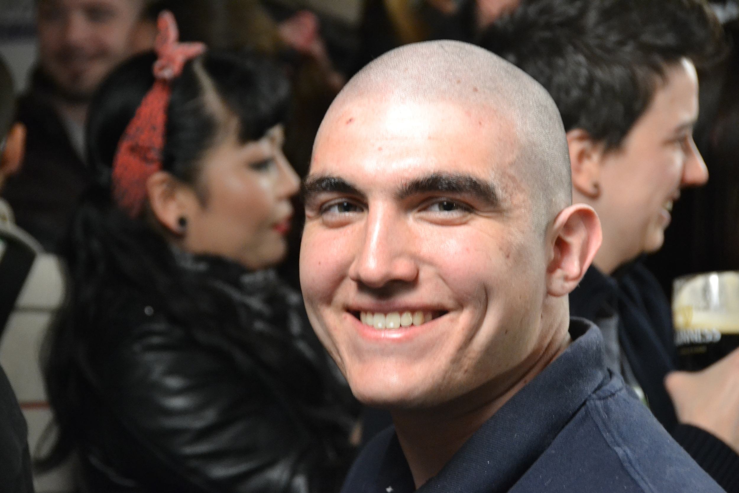 Brother Jon Cordova with a freshly shaven head