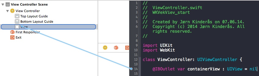 Getting started with WKWebView using Swift in iOS 8
