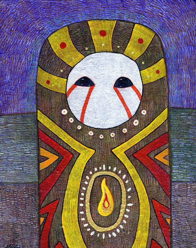 The Watcher, original painting by Susanne Iles