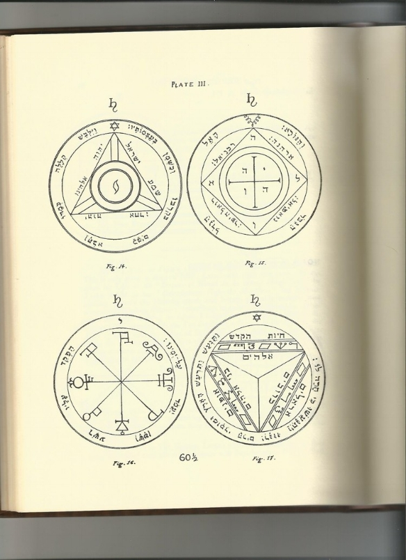 """Plate III from the """"Key of Solomon"""" (1914)"""