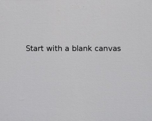 A blank canvas? Imagine the possibilities!