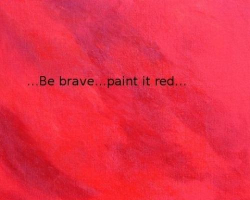 After you've painted your canvas white, let it dry and then paint it red!