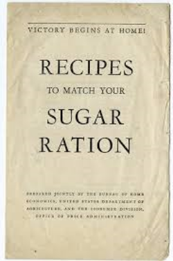 Victory Begins at Home Recipes to Match Your Sugar Ration