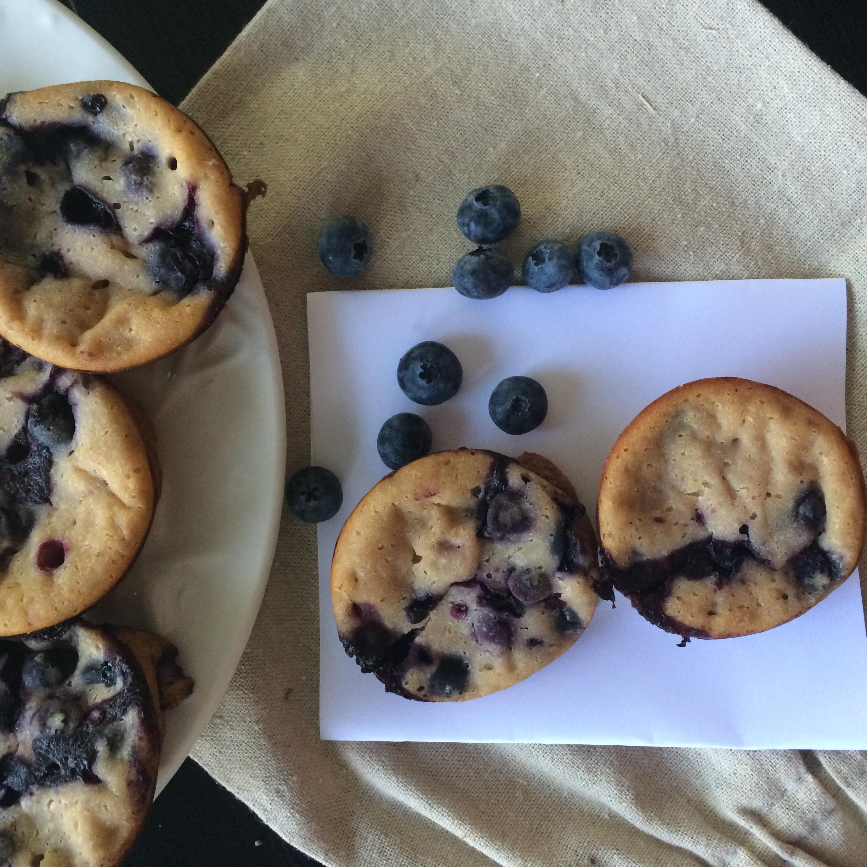 Blueberry Muffins baked with Siggi's Blueberry Yogurt