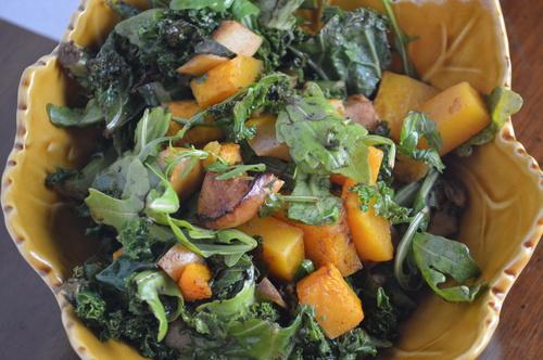 Roasted Squash & Apple Salad