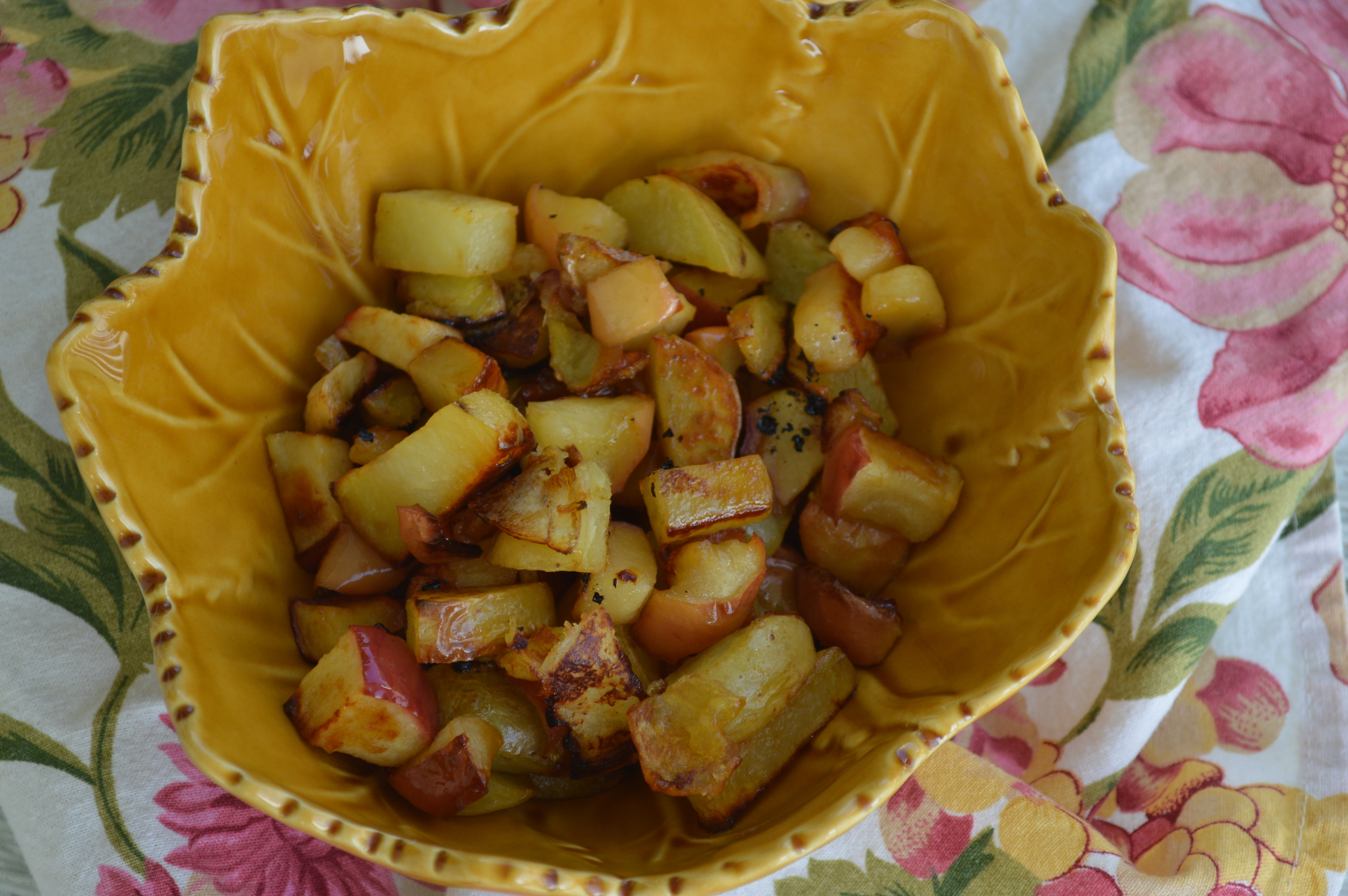 Honey Roasted Potatoes & Apples
