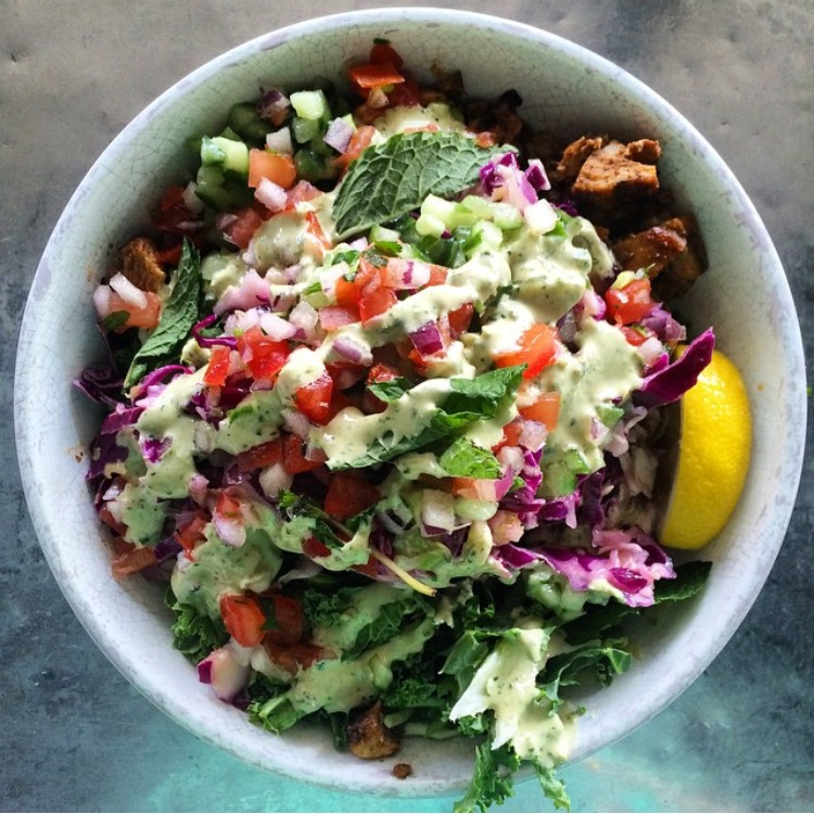 Choose healthy fast-casual restaurants (like Cava, pictured above) if you need food fast.