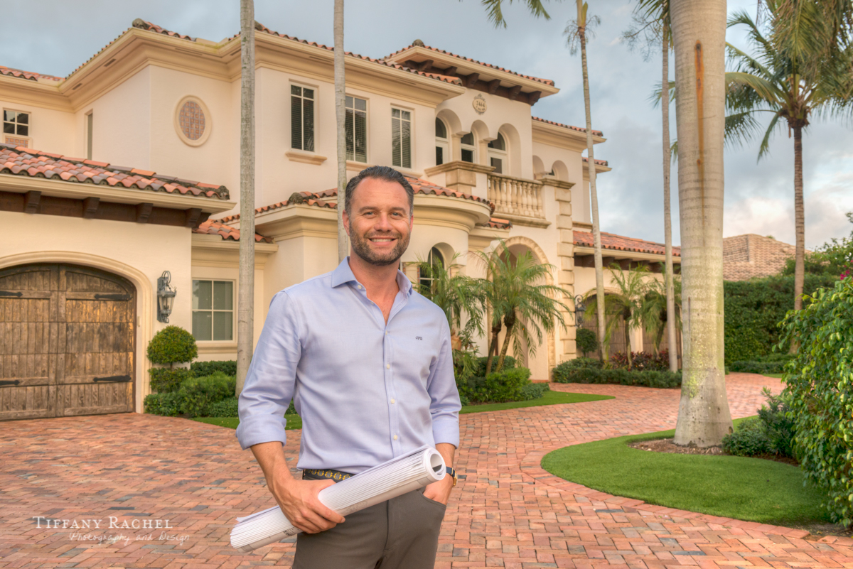 J.P. DiMisa, an experienced builder and developer with a long list of successfully completed jobs, stands in front of one his projects in Boca Raton's Royal Palm Yacht & Country Club.