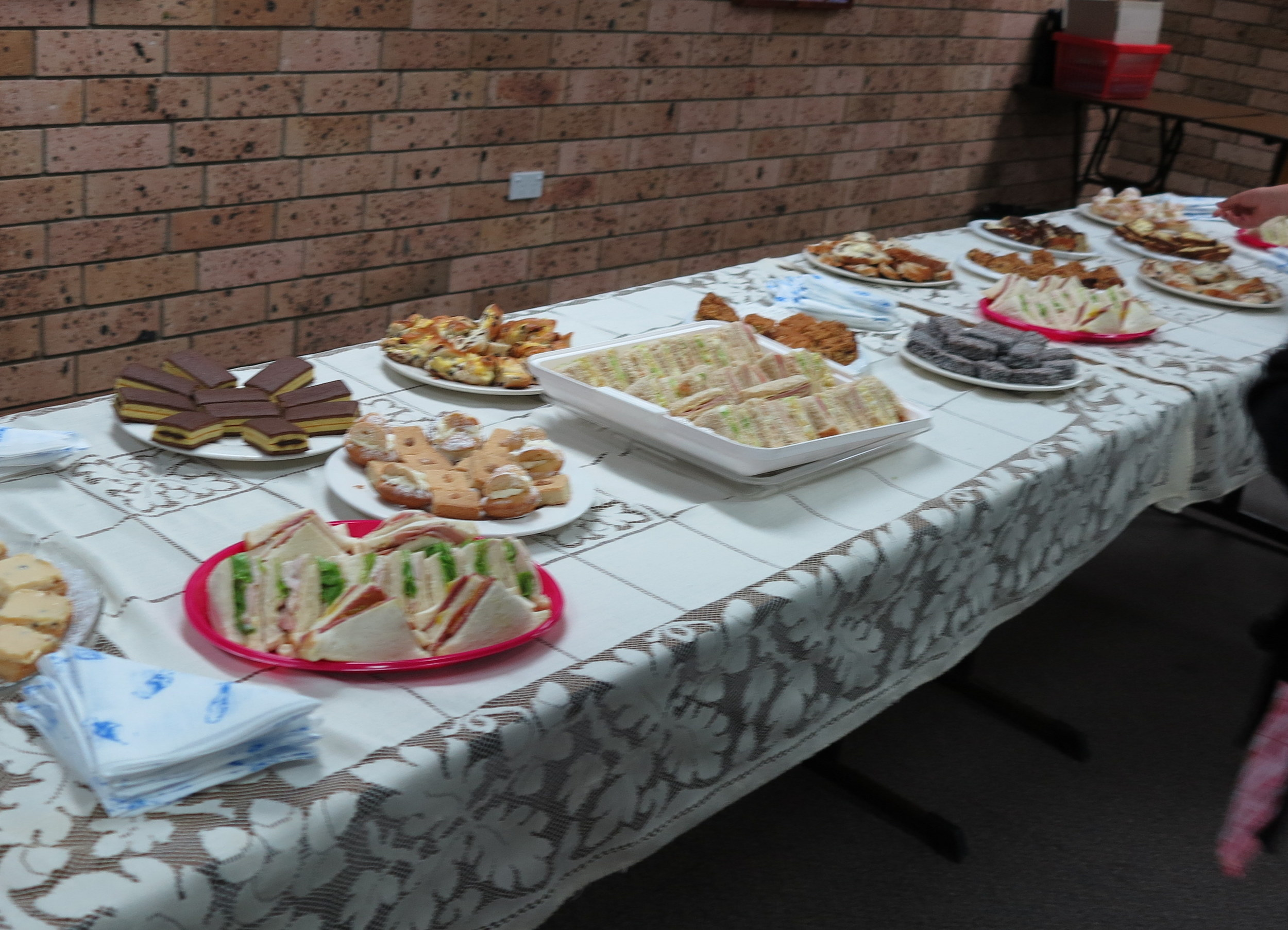 Our AGM supper provided by the Ladies Auxiliary