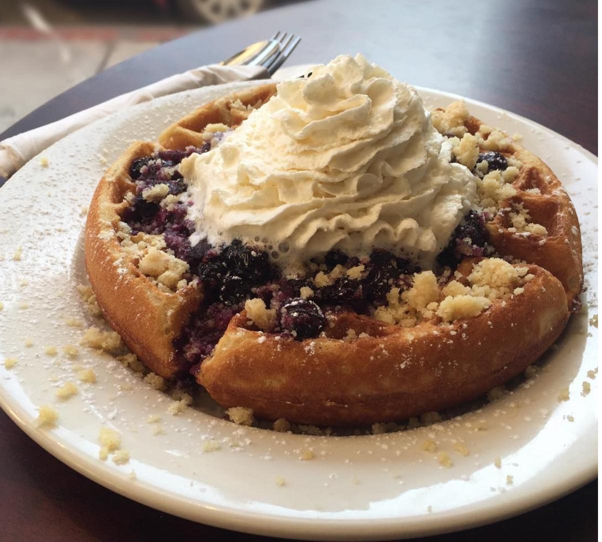 Blueberry Cobbler Waffle