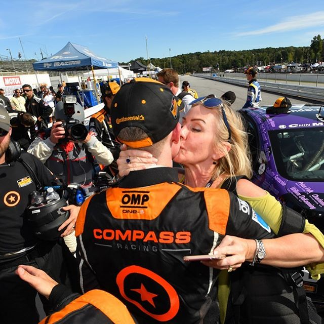 "After winning the championship last season and doing the post-race interview, I turned around and saw my Mom running over with tears in her eyes. Then this photo was taken.  My Mom has been there every step of the way and none of this would be possible without her. Thank you to all the mothers out there supporting their ""little ones""....even if it's supporting something a little extreme. #HappyMothersDay"