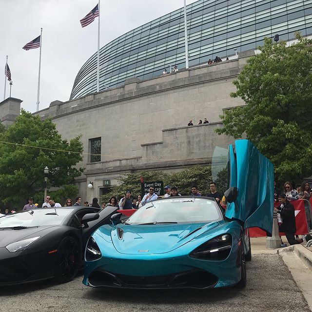 Little bit of a different deal yesterday at @soldier_field in downtown Chicago! Thanks to @mclarenchicago and @f1 for the putting on such a fun event. Crowd was HUGE!