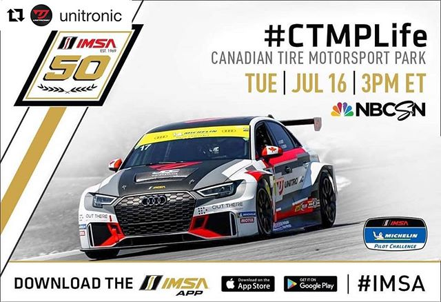 #Repost @unitronic with @get_repost ・・・ TUNE IN ALERT: Relive the excitement and watch @brittcaseyjr and @mikeytracing bring the Unitronic No.17 Audi RS 3 LMS to victory at the @imsa_racing Michelin Pilot Challenge Canadian Tire Motorsport Park 120.  #Unitronic #DeliverThePower #TeamUnitronic #IMPC #CTMPLife  A very big thanks to our Partners:  @jdcmotorsports @outtherebrands @audisport @optimate1 @autobahncc