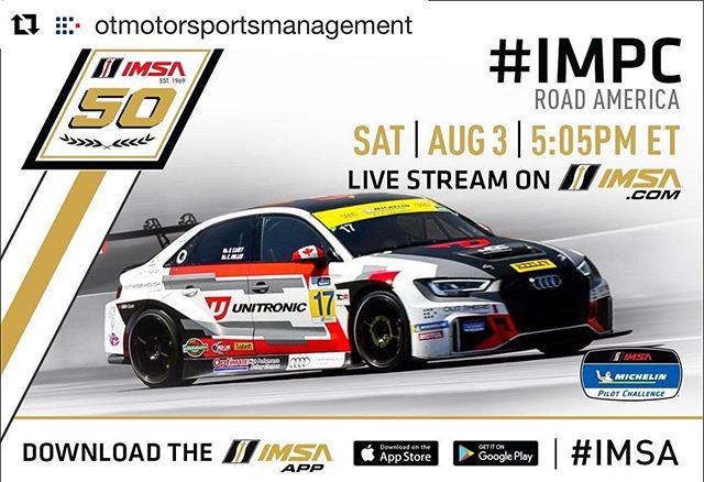 It's Race Day for the @jdcmotorsports team! Stay tuned on @imsa_racing online or the IMSA App for a full live stream of the race! #OutThereMotorsportsManagement #GetOutThere