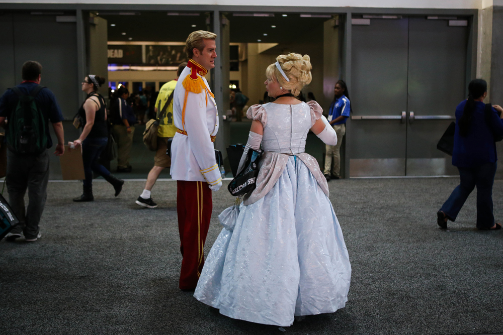 Even Cinderella and her dood got passes to Comic Con.
