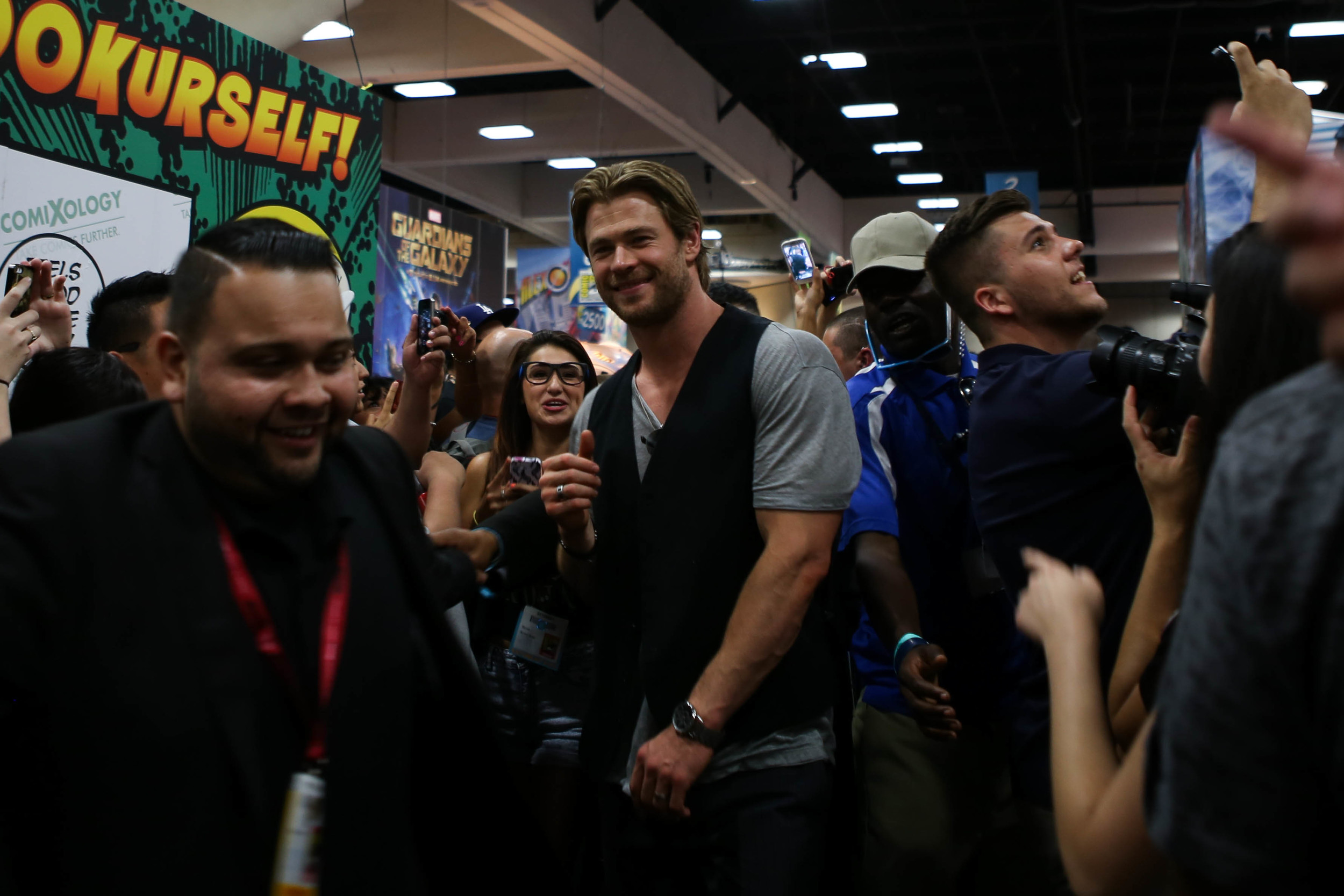 Thor AKA Chris Hemsworth, he even posed for me.