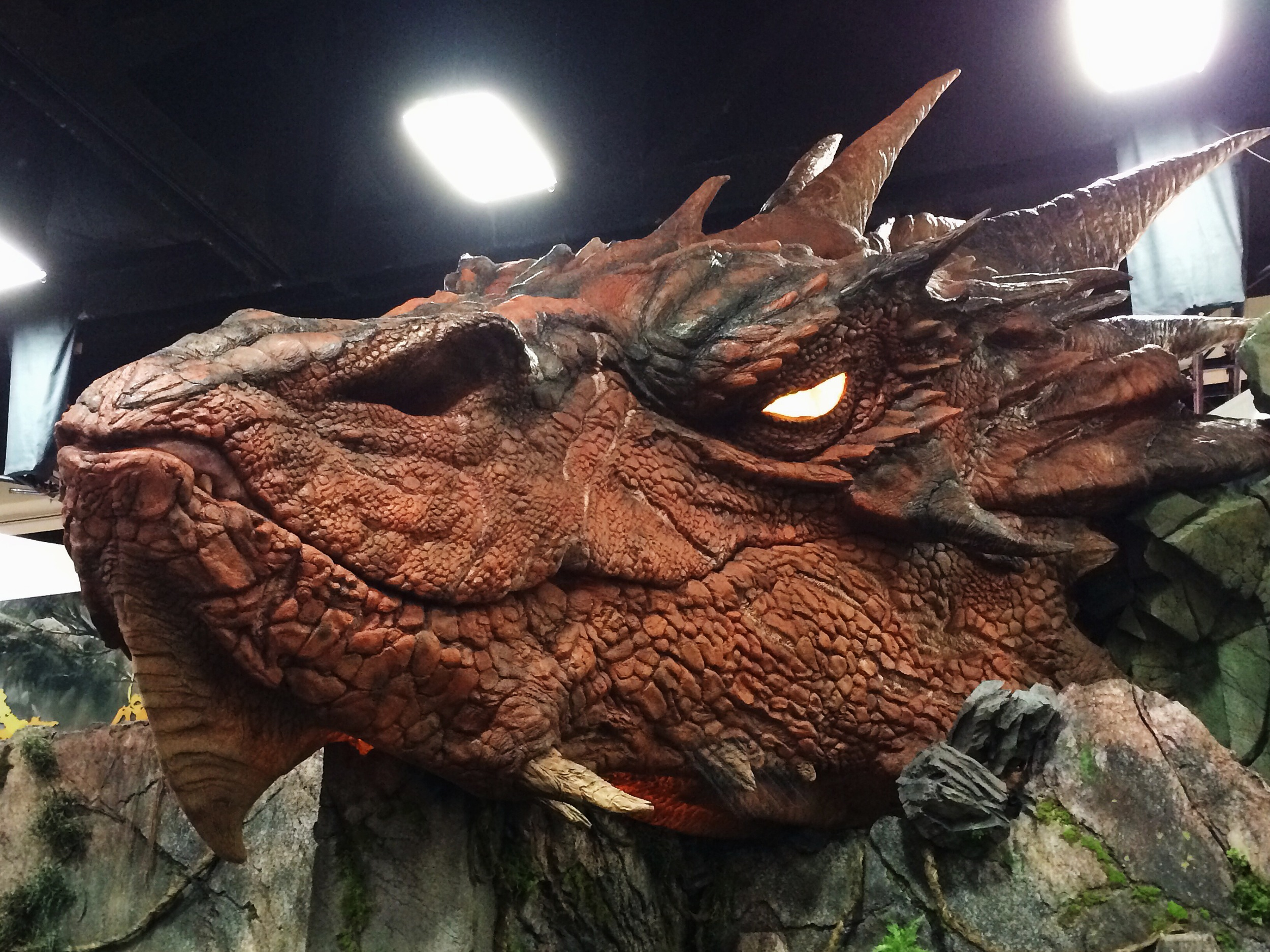 Weta Workshop had a killer booth with all kinds of LOTR and Hobbit stuff. The big homie Smaug was posted. *Spoiler Alert* Bilbo and the dwarves successfully take the mountain back from this buster at the end of the Hobbit.