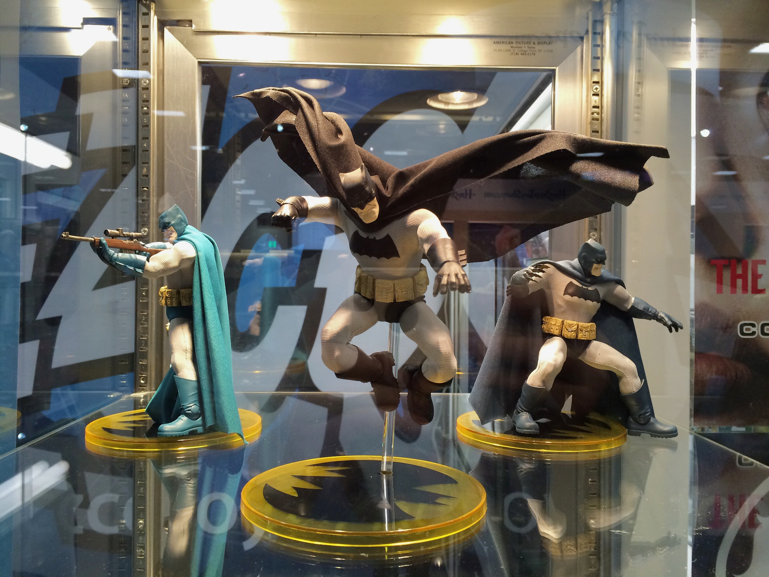 Mezco cooking up some killer Batman figures based off the Frank Miller designs from The Dark Knight Returns.