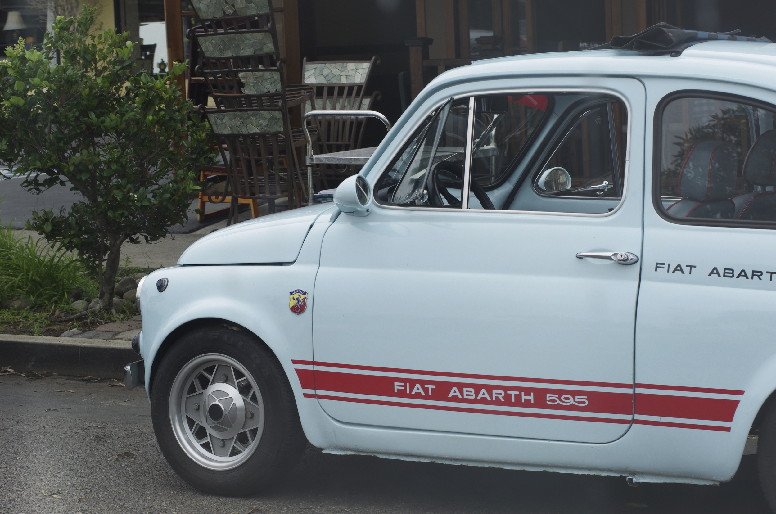 While cruising around we came upon this sweet Fiat Abarth.