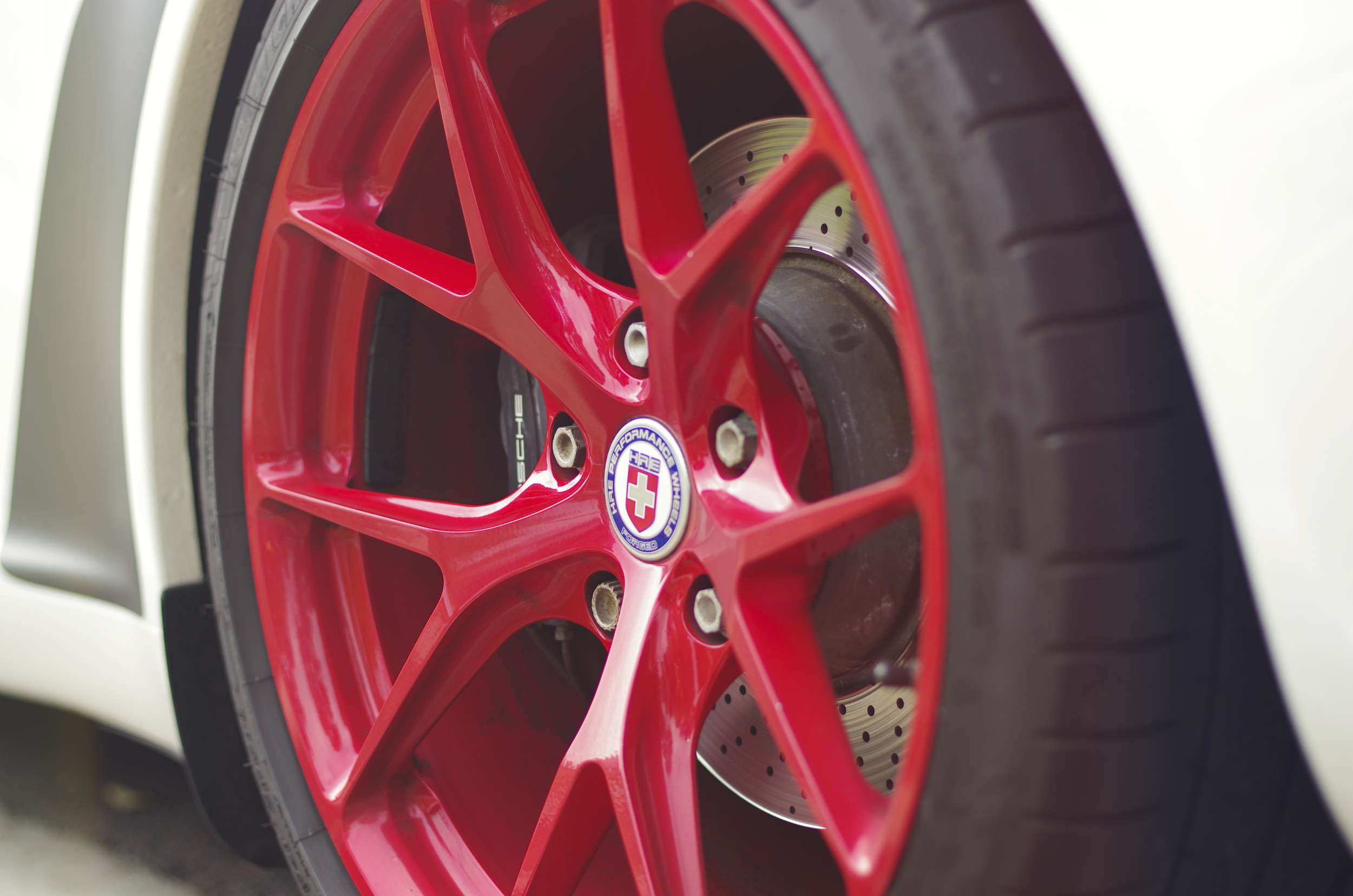 While walking back to the car we found a nice set of HRE wheels on this 911.