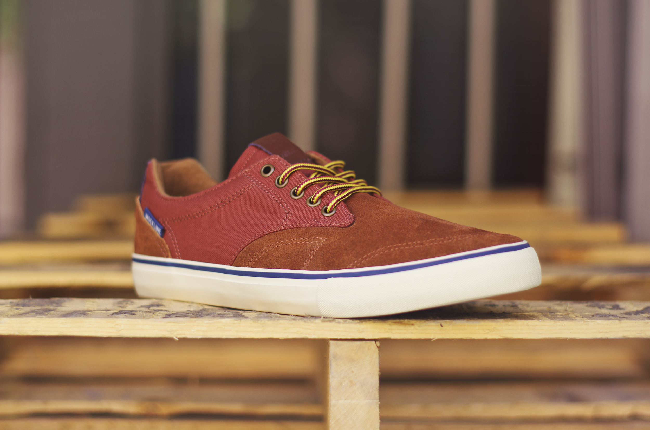 Tim Tim - $70 (Gingerbread/Antique White/Navy) This shoe comes in a suede and canvas upper with antique white vulc sole,  3M reflective heal, metal eyelets and work boot laces.