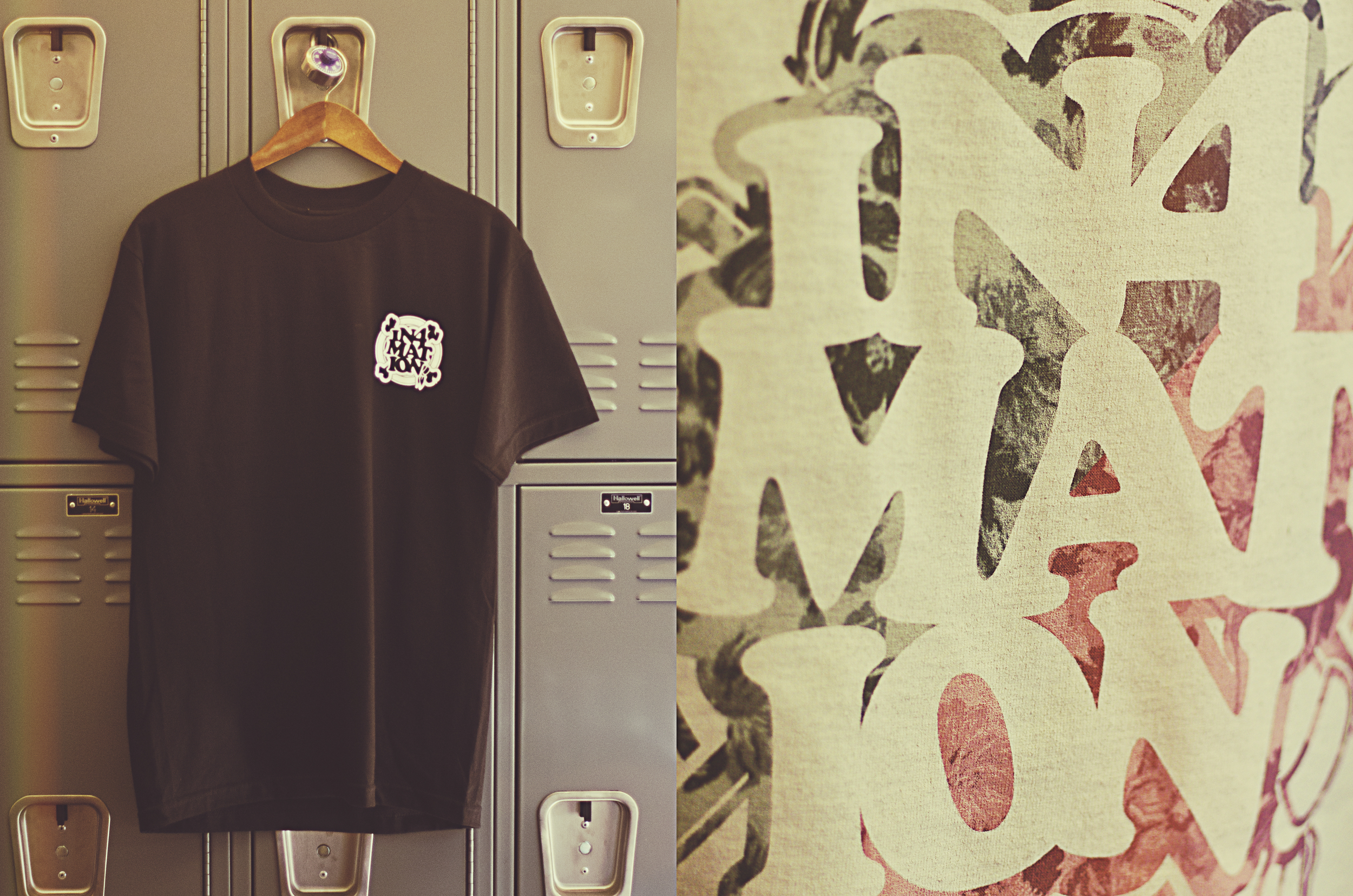 """The """"Royal HI FYI"""" tee ($28) features a white logo chest hit with a large multi-color back graphic."""