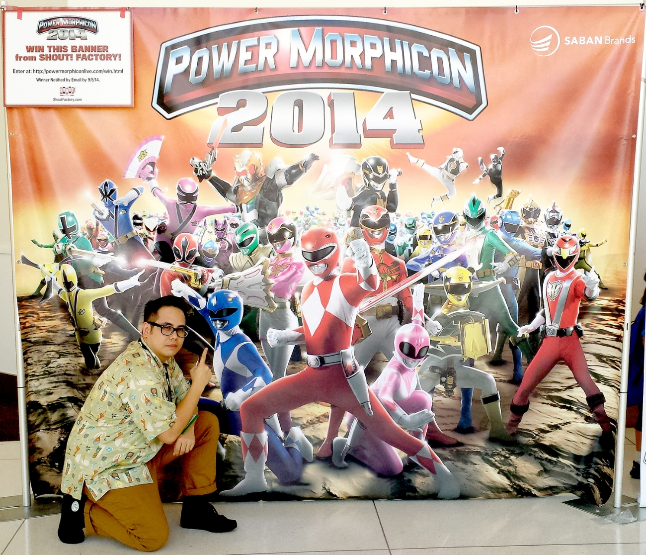 Had to take a photo op with the official Power Morphicon 2014 Banner.