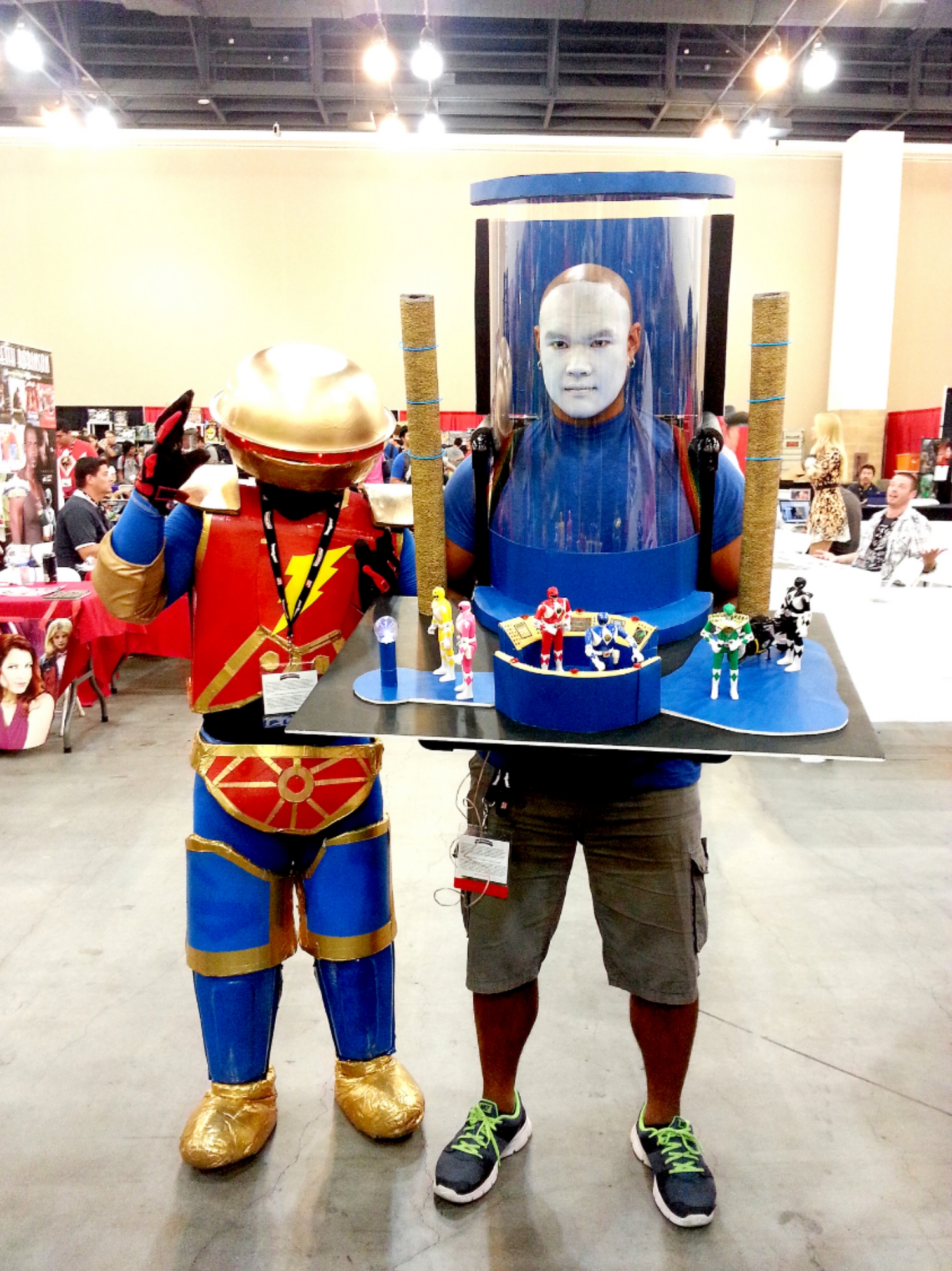 By far my favorite cosplay at the convention. Zordon + Alpha 5