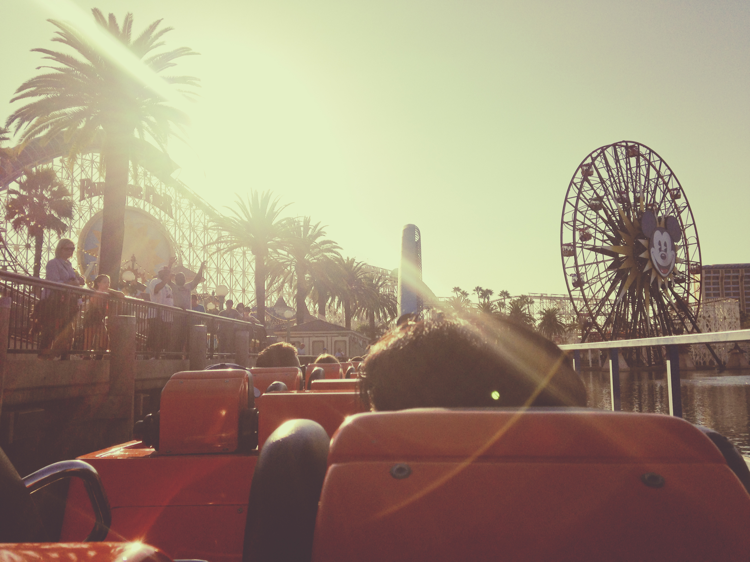 After assessing all of the line wait times, we decided to hit up Screaming.