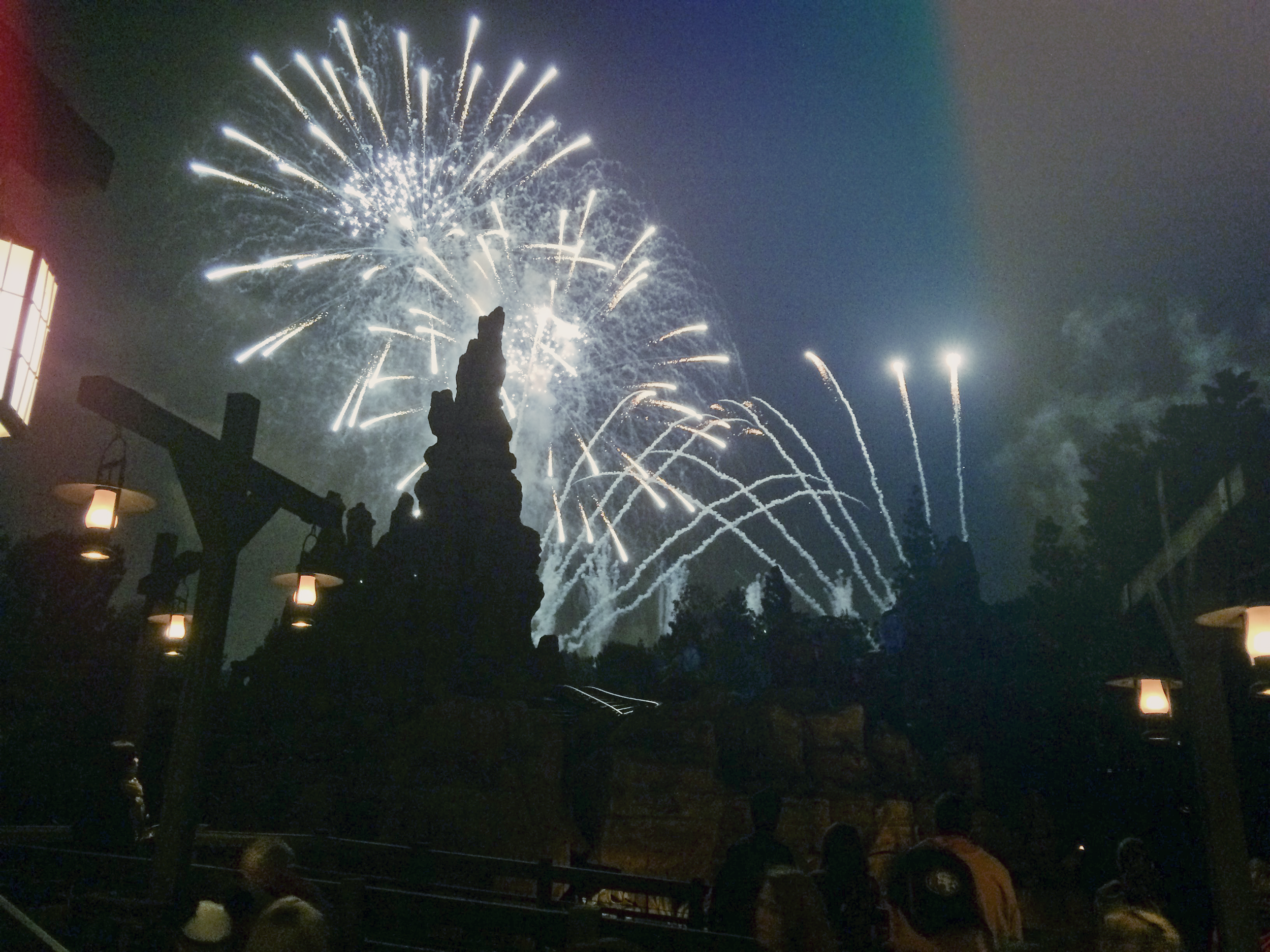 A lot of the lines were still pretty long, so we just rounded out our night on Thunder Mountain.