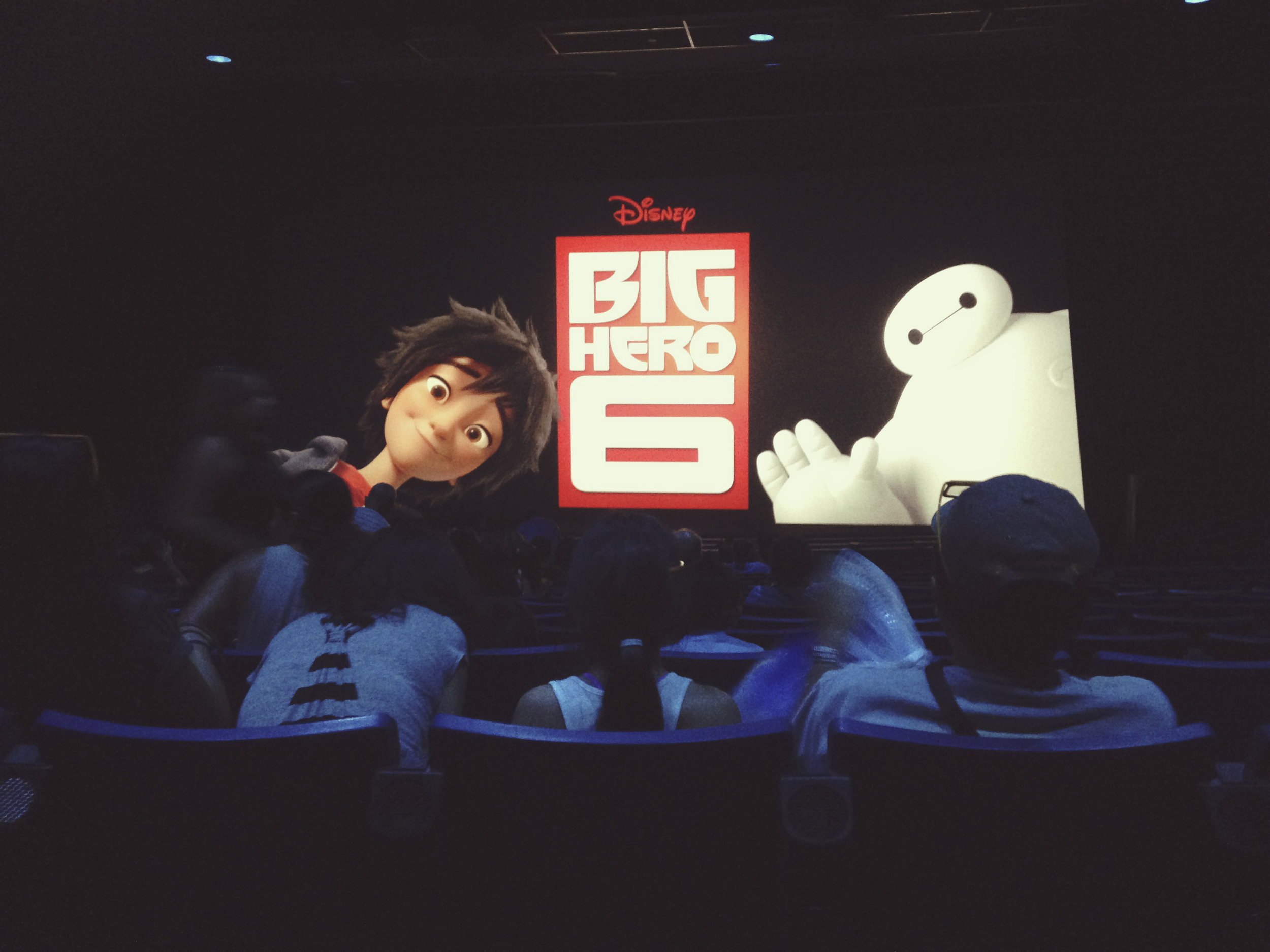 We stopped by the theatre to check out Big Hero 6, and to sit in some AC.