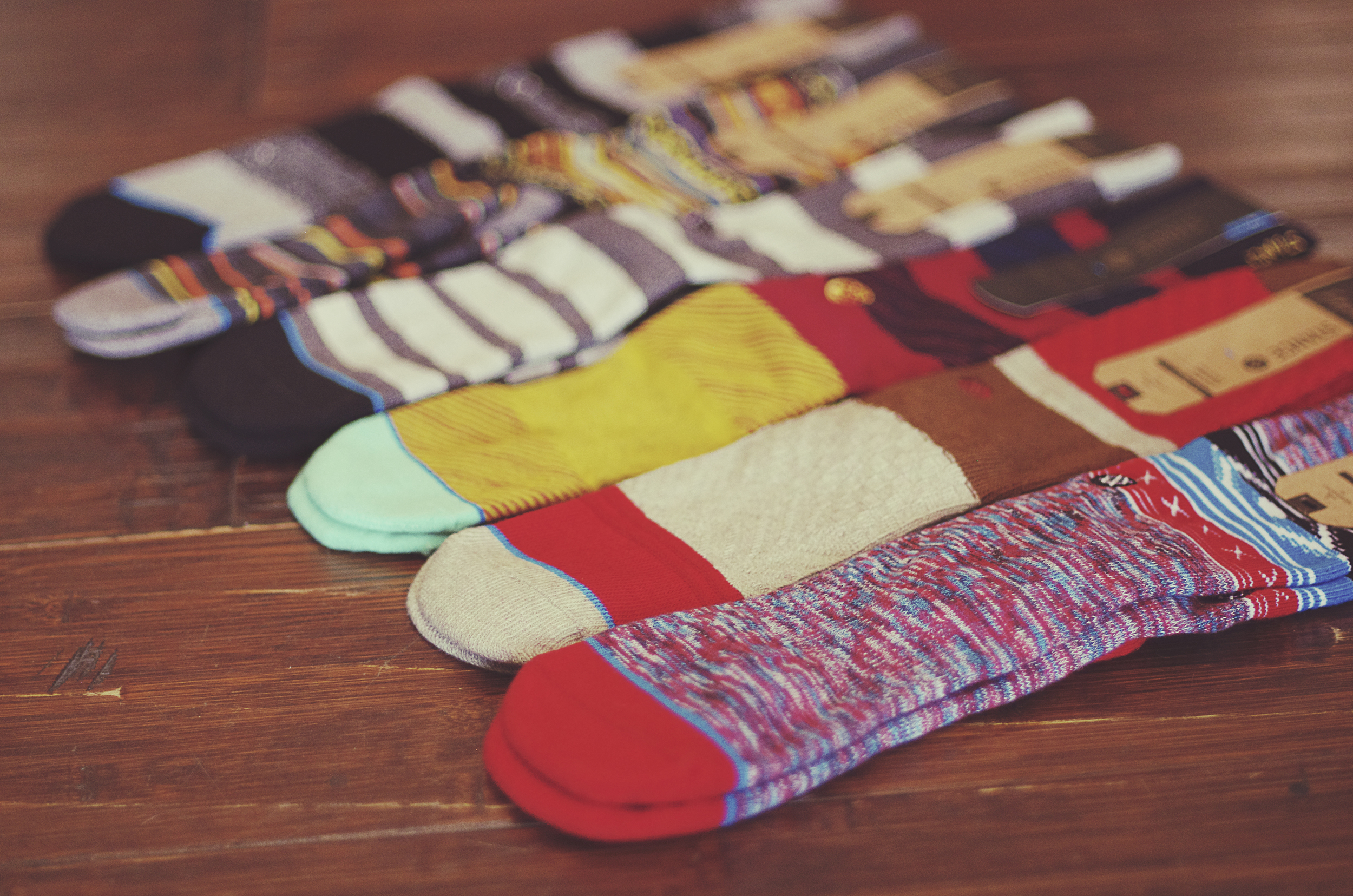 A look at the toe caps of the Stance Reserve socks.
