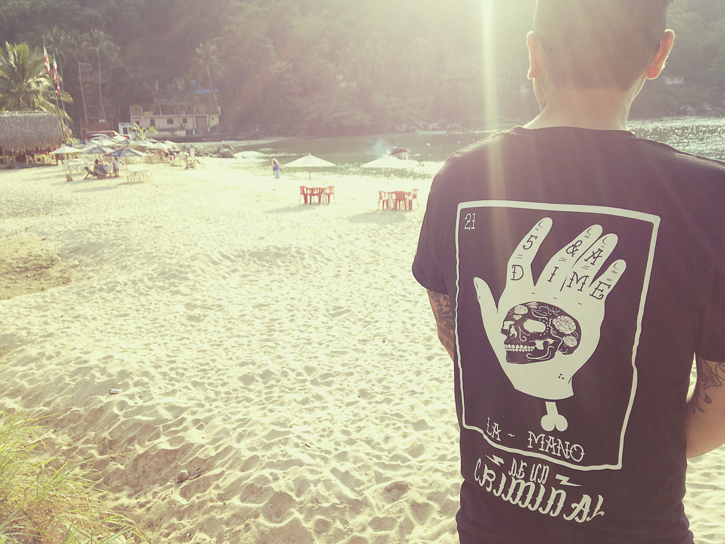 Repping the La Mano tee in Puerto Vallarta.