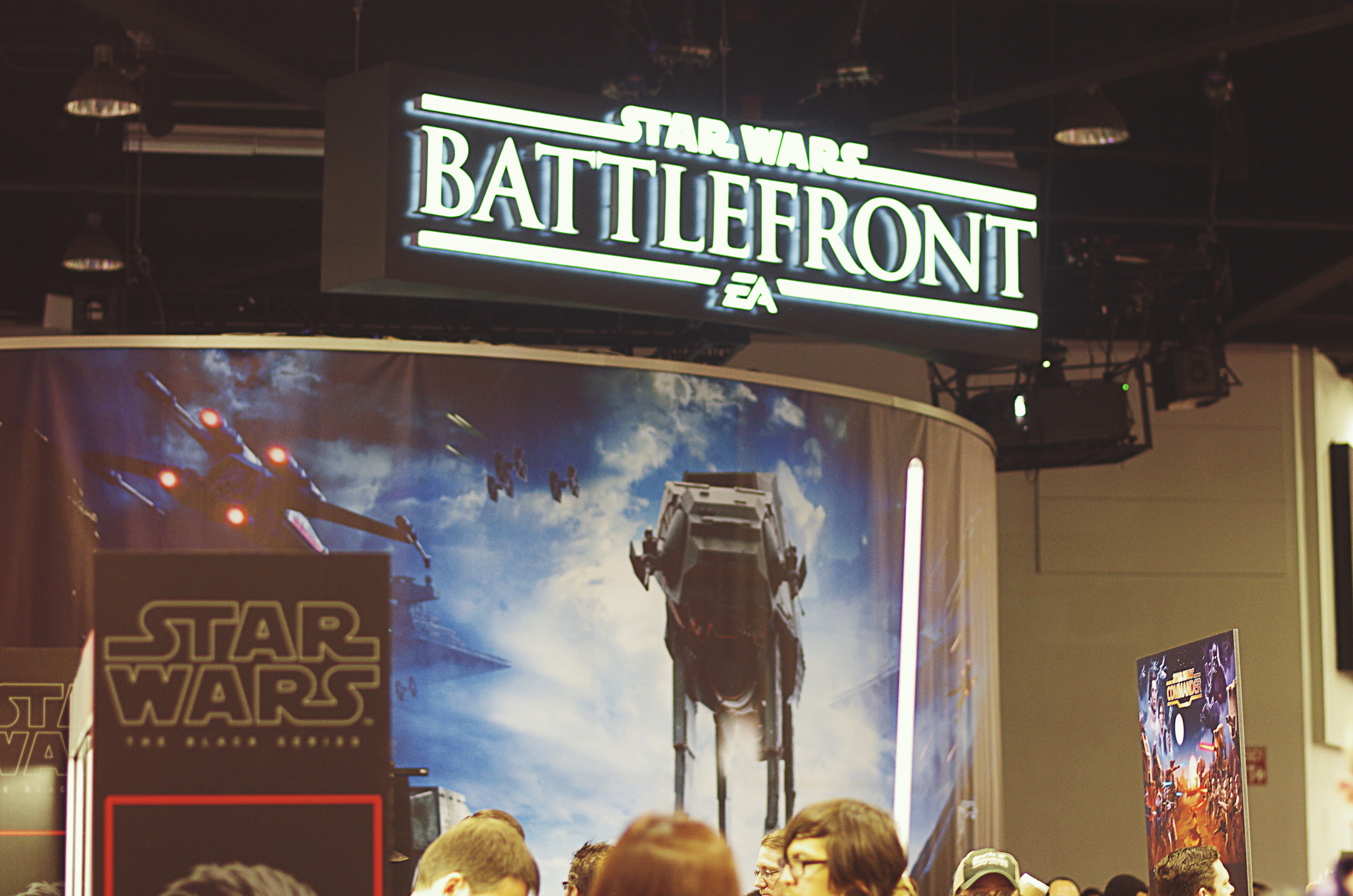 We believe EA were showing off some game play. The wait was 3 hours!